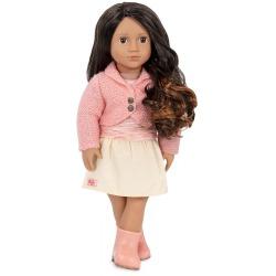 MARICELA duża lalka 46 cm brunetka z bujnymi włosami w stylu ombre