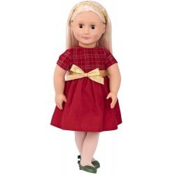 BRIA duża lalka 46 cm elegantka w czerwonej sukience