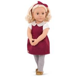 IVORY duża lalka 46 cm w czerwonej sukience