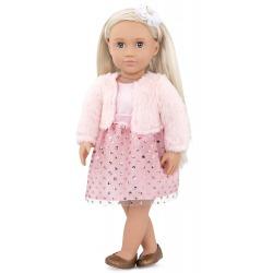 MILIE duża lalka 46 cm w jasnoróżowej stylizacji