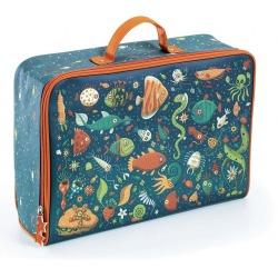 ŚMIESZNE RYBKI bawełniana walizka