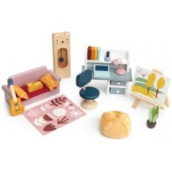 POKÓJ MŁODZIEŻOWY drewniane mebelki do domku dla lalek