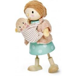 PANI GOODWOOD drewniana laleczka z dzieckiem