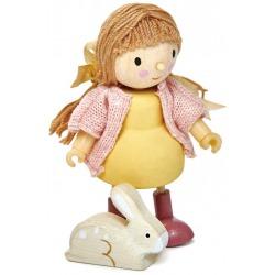 AMY drewniana laleczka z króliczkiem