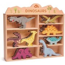 DINOZAURY drewniane figurki do zabawy
