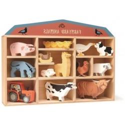 ZWIERZĄTKA NA FARMIE drewniane figurki do zabawy