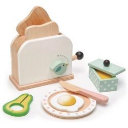 DREWNIANY TOSTER z zestawem śniadaniowym Mini Chef
