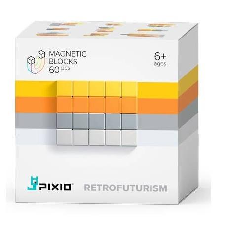 RETROFUTURISM klocki magnetyczne 60 szt. Abstract Series