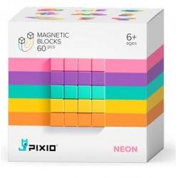 NEON klocki magnetyczne 60 szt. Abstract Series