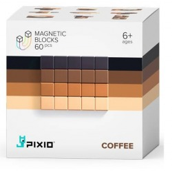 COFFEE klocki magnetyczne 60 szt. Abstract Series