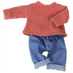 TERRA COTTA spodenki jeansowe i bluzka dla lalki 38 cm