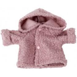 PUDROWY RÓŻ wełniana kurtka dla lalki 38 cm