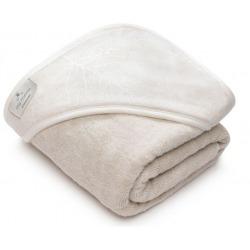 BAMBUSOWO- LNIANY ręcznik z kapturem 85x85 cm
