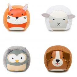 WIEŚ I LAS zestaw 4 miękkich piłeczek zwierzątek sensorycznych DooBalls