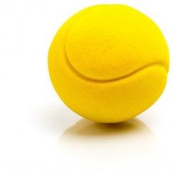 PIŁECZKA tenis sensoryczna żółta mała