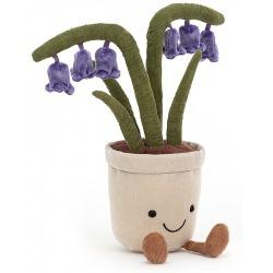 DZWONECZEK materiałowy kwiatek w doniczce Amuse 26 cm
