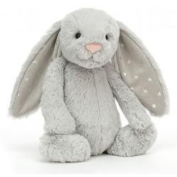 KRÓLICZEK szara przytulanka Bashful Shimmer Bunny 18 cm