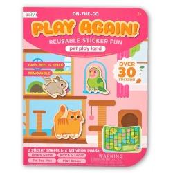 ZWIERZĄTKA DOMOWE naklejki wielorazowe z mini grą Play again