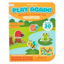 OGRÓD naklejki wielorazowe z mini grą Play again