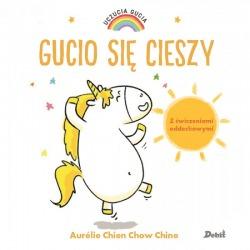 GUCIO SIĘ CIESZY książeczka Uczucia Gucia Aurelie Chien Chow Chine