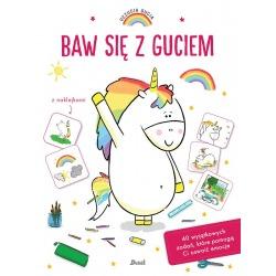 BAW SIĘ Z GUCIEM książeczka z naklejkami Uczucia Gucia Aurelie Chien Chow Chine