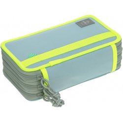 POTRÓJNY PIÓRNIK z wyposażeniem blue/neon-yellow Unique