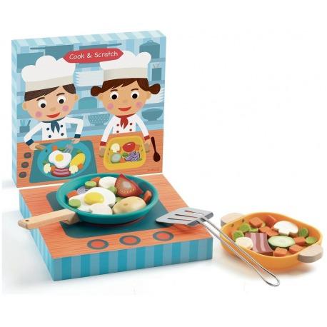 WARZYWA NA PATELNIĘ zabawa w gotowanie Cook&Scratch