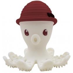 CZERWONA OŚMIORNICA silikonowy gryzak Chimney Red
