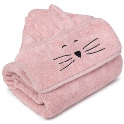 POWDER PINK bambusowy duży ręcznik 70x140 cm cat
