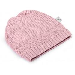 POWDER PINK czapeczka z bawełny organicznej 0-3 m