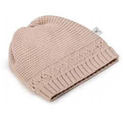BEIGE czapeczka z bawełny organicznej 0-3 m