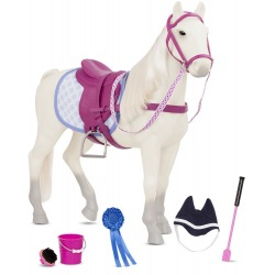 STERLING GREY duży koń 50 cm dla lalki