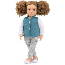 MILA duża lalka 46 cm z kręconymi włosami