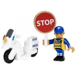 BIAŁY MOTOCYKL policyjny z figurką World