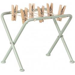 SKŁADANA SUSZARKA NA PRANIE z drewnianymi klamerkami akcesoria dla lalek