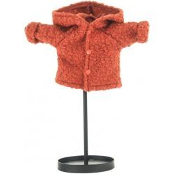 KORALOWA wełniana kurtka dla lalki 38 cm
