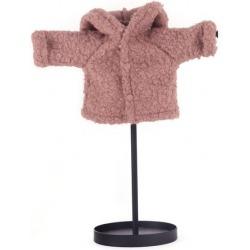 BRUDNY RÓŻ wełniana kurtka dla lalki 38 cm