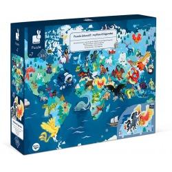 LEGENDY I MITY puzzle tekturowe edukacyjne z figurkami 3D 350 el.
