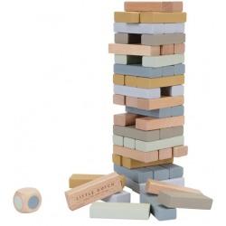 JENGA drewniana gra zręcznościowa z kostką