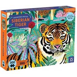 TYGRYS SYBERYJSKI tekturowe puzzle edukacyjne Zagrożone gatunki 300 el.